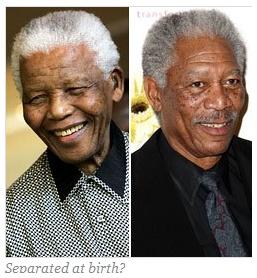 Nelson Mandela ChartNelson Mandela Morgan Freeman Comparison