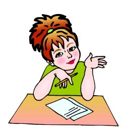 writing woman-clipart